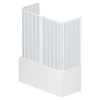 Roll plast bves1concc28170de cabinas de ducha puerta, tamaño: 70x 170x h 150cm, de PVC, dos puertas, apertura Medio, color blanco