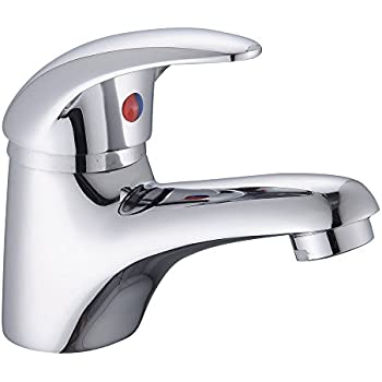 Grohe 23330 BauEdge Single Lever Mono Basin Mixer Tap 1//2 Inch Smooth Body