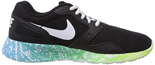 Nike Kaishi Run Print Damen Laufschuhe Schwarz (Black/White-Clearwater-Volt 014)