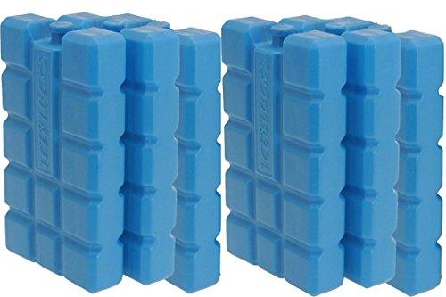 6er Set Kühlakku mit je 400 ml   2 blaue Kühlelemente für die Kühltasche   Gefriergerätezubehör by RIVENBERT