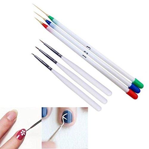 Oyedens 6 piezas Uñas diseño de arte conjunto punteado pintura dibujo cepillo pluma herramientas