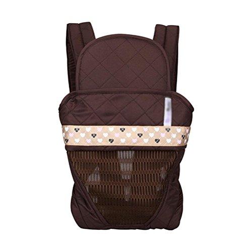 Babytrage Baby Carrier 3D Breathable Hip Sitzträger Ergonomisches Design Variety Carry Ways mit abnehmbarem Sitz Tragbarer Multifunktions-Rucksackträger , coffee (Baby Carrier Ergobaby Wrap)