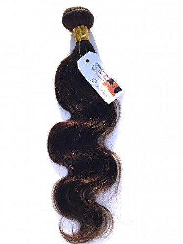 Tissage-extension - Tissage Brésilien Marron ondulé naturel Remy Hair - 14 pouces