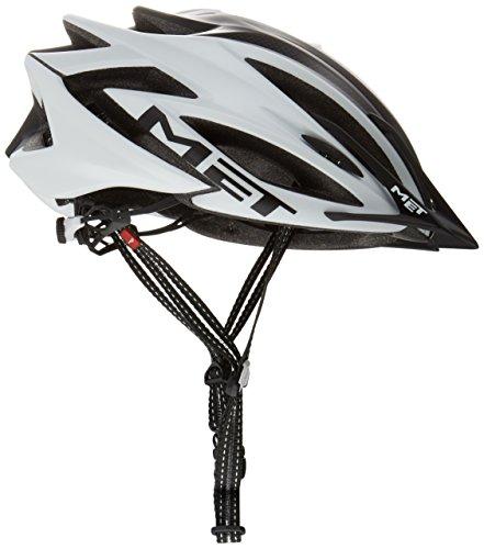 MET Fahrradhelm Veleno Matt, White/Black, 58-61 cm, 3HELM93L0BI