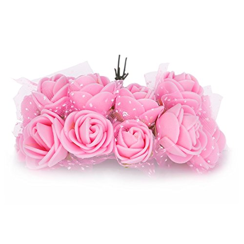 Tininna artificiale fiori ,144 pz mini fiori carta rosa di nozze fai da te per bomboniera artigianale .-rosa