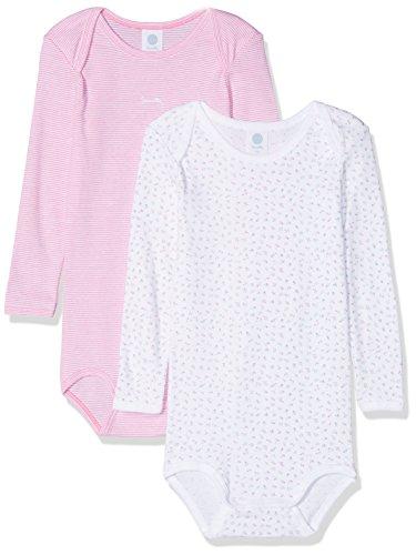 Sanetta Baby-Mädchen Formender Body DP 322549+322550, 2er Pack, Weiß (White 10) 104