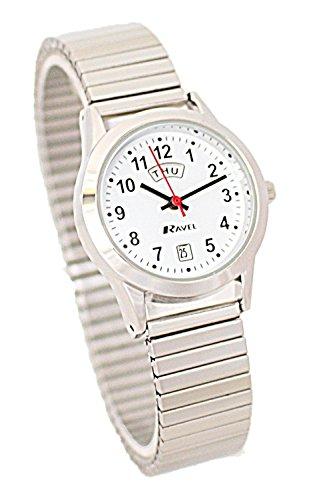 hr Edelstahl mit Anzeige von Tag/Datum Silberfarben, erweiterbares Armband R0706.20.2EX ()
