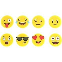 Balvi-EmojiSetdeMarcaCopasdeSilicona.Setformadopor8PiezasconemoticonosDiferentesparadistinguirLasCopasoVasos.