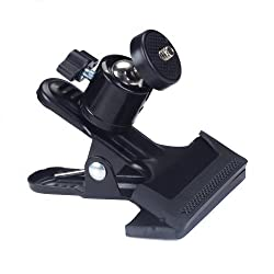 Generic Black Metal Photo Studio Flash Spring Clamp Clip Mount With Ball Head