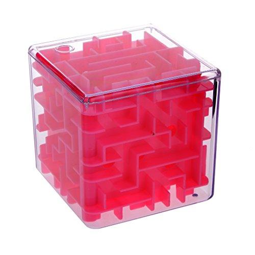 Rubik Cube Labyrinthe Difficile Jeux Séquentiels Puzzle 3D Enfant - Rose