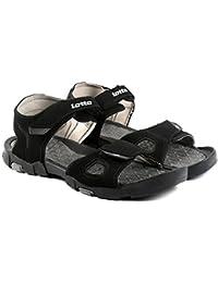 Lotto Men Hiker Black/Grey Sandals 7