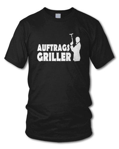 shirtloge - AUFTRAGSGRILLER - KULT - Fun T-Shirt - in verschiedenen Farben - Größe S - XXL Schwarz