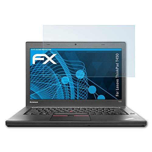 atFolix Schutzfolie kompatibel mit Lenovo ThinkPad T450 Folie, ultraklare FX Bildschirmschutzfolie (2X)