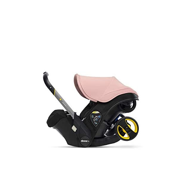 Doona Car Seat and Pram, Blush Pink, Revolutionary 0+ Car Seat that Folds Between Car Seat & Pram in Seconds, ISOFIX Base Available. Car Seat H60cm x W44cm, Pram H99cm x 82cm. Perfect for Travelling Doona  3