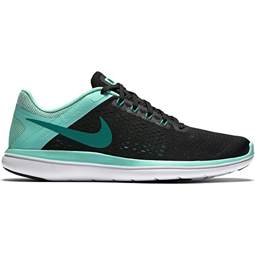 Teal Womens Schuhe (NIKE Women's Flex 2016 RN Running Shoe, Black/Rio Teal/Hyper Turquoise/White, 9.5 B(M) US)