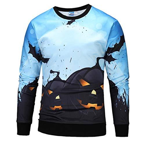 ITISME TOPS Halloween Frauen Männer Skelett 3D Print Langarm Hoodie Sweatshirt Pullover Top