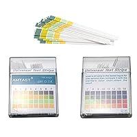 AMTAST Universal pH Test Strips, Acid Alkaline pH Level Test Strips, Full pH Range 0 - 14 (100 Strips)