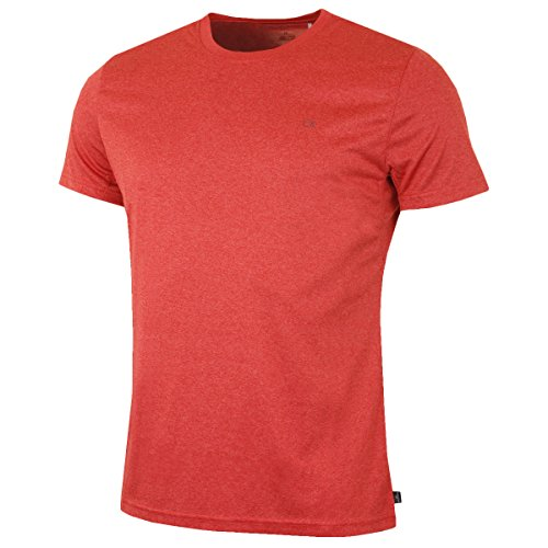 Calvin Klein Golf Herren CK Technische T-Shirt - Rot Marl - XL (Calvin Hemd Klein)