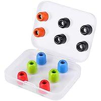 LUDOS COMFY Almohadillas de Espuma Viscoelástica para Auriculares, 12 Almohadillas de Nueva Generación, Lavables, Duraderas y muy Resistentes, 4,9 mm