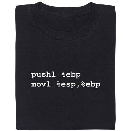Assembler - Geek Shirt für Computerfreaks aus fair gehandelter Bio-Baumwolle Schwarz