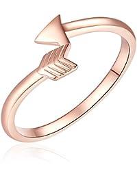 Rafaela Donata - Bague - Argent sterling 925 (dorée rose) - Bijoux pour femmes - En plusieurs tailles, bijoux en argent - 60903111