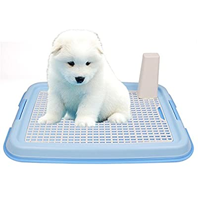TopEUR Puppy Dog Pet Potty Training Mesh Pad Holder Toilet Tray