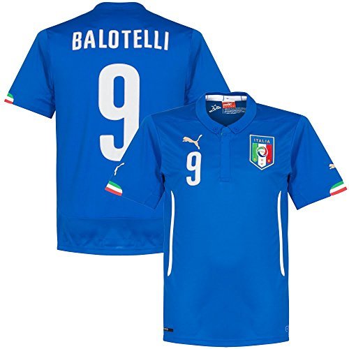 Puma FIGC Balotelli Home Shirt Repl team power blue, Größe Puma:XL