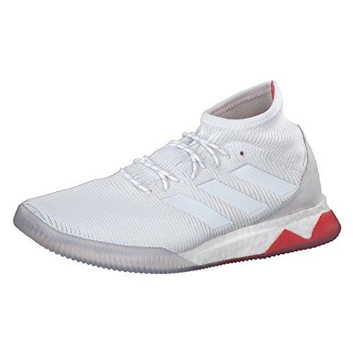 adidas Herren Predator Tango 18.1 TR Fußballschuhe, Weiß/Rot, 45 1/3 EU Weiß (Ftwwht/Ftwwht/Reacor Ftwwht/Ftwwht/Reacor)