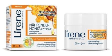 Lirene nährender Honig & Zitrone verjüngende glättende Creme (50ml)