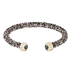 Idea Regalo - Swarovski Bracciale rigido Crystaldust, multicolore