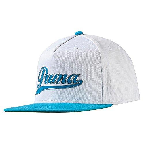 Puma Golf Kinder Boy 's Script Snapback Cap (Big Kids), Jungen, White/atomic Blue