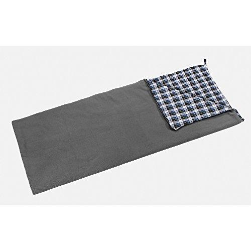 Berger Deckenschlafsack Fleece Comfort, grau, Maße (LxB): 210 x 80 cm