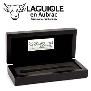 Laguiole en Aubrac boîte cadeau en bois laqué noire pour un couteau pliant 11/12 cm