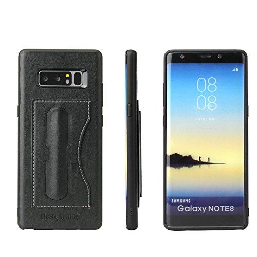 Samsung Galaxy Note 8 Hülle, Gusspower Luxus Shockproof Hybrid TPU + PC Fall Abdeckung, 2-in-1 Telefon Kreditkarten Halter Stand Hülle für Galaxy Note 8 (6,3