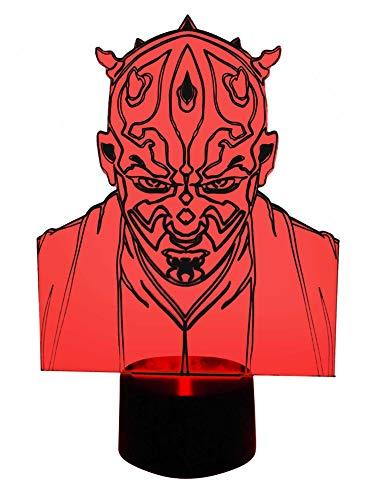 originelle 3d lámpara LED cambio de color de Darth Maul mesa lámpara lámpara de mesa