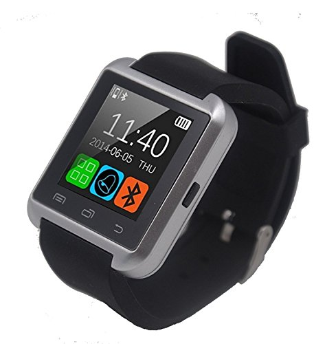 Sony Xperia P Compatible Smartwatch U8 - Silver Bluetooth / Touch Screen / Microphone / Fitness Features / Multimedia Functions / Call, Answer Call, Reject Call / Connectivity / Rechargeable Battery / Notifications & Controls / Supported Operating System Android, iOS By MOBIMINT  available at amazon for Rs.899