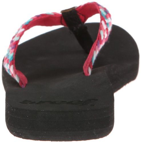 Reef  REEF MALLORY BLACK/HOT PINK/, Tongs pour femme Multicolore - Mehrfarbig (BLACK/HOT PINK/)