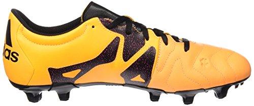 adidas X 15.3 Fg/Ag Leather, Scarpe da Calcio Uomo Arancione / nero / colore rosa (Dorsol / Negbas / Rosimp)