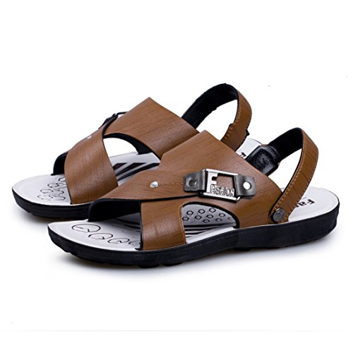 Men's Fashion Zapatos Chinelo Masculino Outdoor Sandals brown
