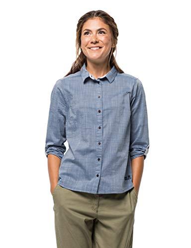 Jack Wolfskin Damen Emerald Lake Shirt Bluse, Ocean Wave, XXL -