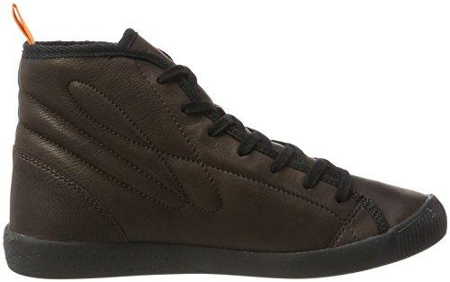 Softinos Izi399sof Smooth, Sneaker a Collo Alto Donna Braun (Dk Brown)