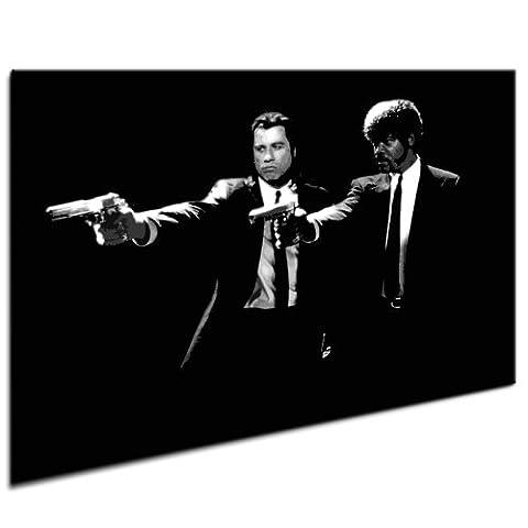 Pulp Fiction LeinwandBild Bild fertig auf Keilrahmen ! Pop Art Wandbilder, Bilder zur Dekoration - Deko. Film / Movie / Tv Stars Kunstdrucke und
