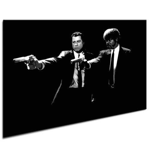 Pulp Fiction LeinwandBild Bild fertig auf Keilrahmen ! Pop Art Wandbilder, Bilder zur Dekoration - Deko. Film / Movie / Tv Stars Kunstdrucke und Gemälde