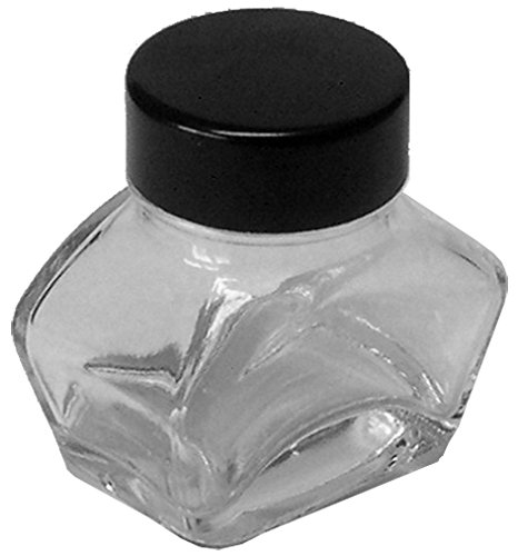 Tintenglas 30 ml leer, transparent
