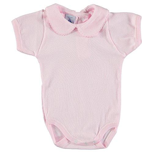 babidu Baby-Mädchen Unterwäsche-Set Body Cuello Bebe Manga Corta, Rosa, 12 Monate