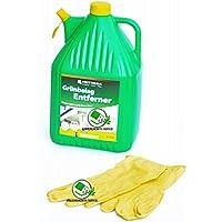 Hotrega - Limpiador de capas verdes, bidón de 5 L (listo para usar), incluye guantes de goma