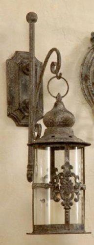 Antike Kerze Laterne (Edle Wandlaterne Wandkerzenhalter Laterne Antik - H42cm 2 Stück)