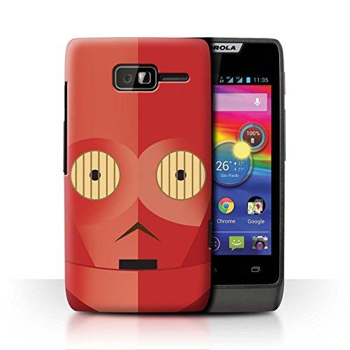 Stuff4® Hülle/Case für Motorola RAZR D1 / Rote R-Serie Muster/Protokoll Droide Kollektion -