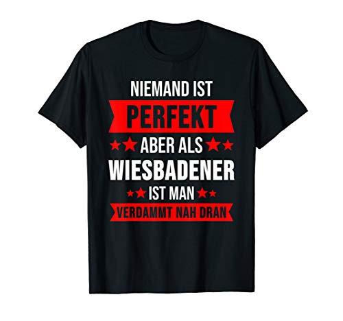 Wiesbaden Hessen Hesse Apfelwein Dialekt Geschenk T-Shirt