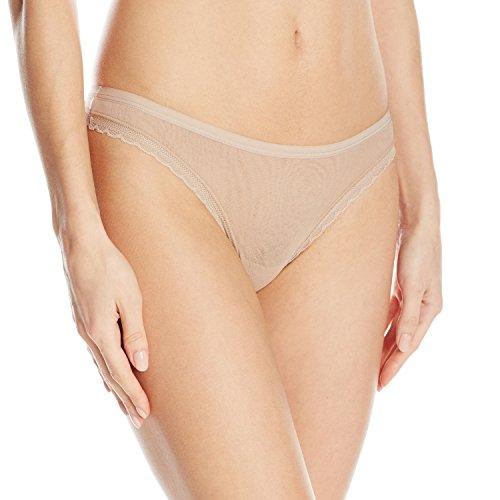 OnGossamer Women's Next to Nothing Mesh Low-Rise Thong Panty -